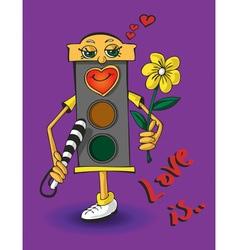 Love traffic light vector