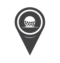 map pointer golf icon vector image