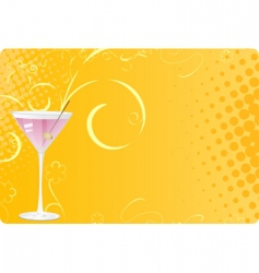 martini glass on halftone background vector image vector image