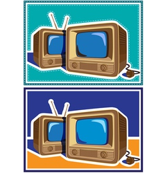 Old tv set vector