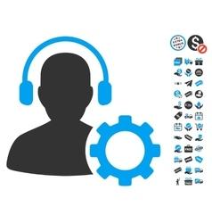 Operator Configuration Gear Icon With Free Bonus vector