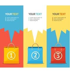 paper bag sale card option banner Flat vector image