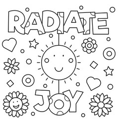 radiate joy coloring page vector image