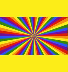 Rainbow rays background vector