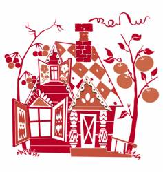 red house vector image