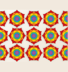Sacred lotus indian background seven colors chakra vector