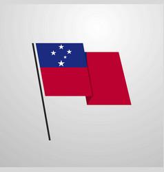 Samoa waving flag design background vector