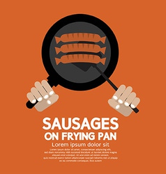 Sausages On Frying Pan vector