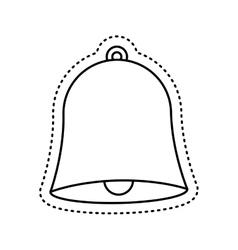 School bell isolated icon vector
