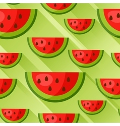 Seamless pattern with watermelon slices in flat vector