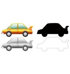 Set car graphic vector