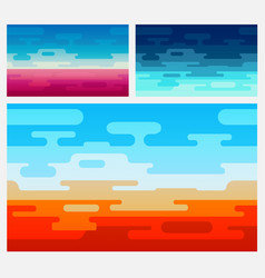 Set of background in flat style vector