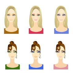 Set of make up patterns vector image vector image