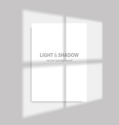 shadow and light from window transparent vector image