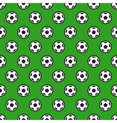 Soccer Ball on Green Seamless Background vector image