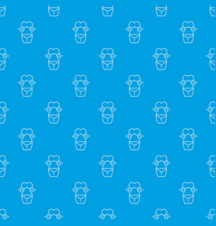 spa body silhouette pattern seamless blue vector image