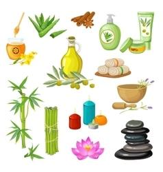 Spa Salon Decorative Elements Set vector