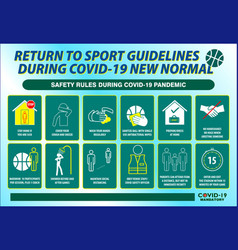 Sport guidelines safety rules poster or public vector