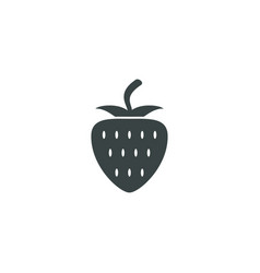 strawberry icon simple vector image