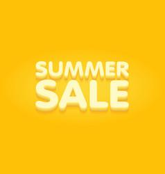 Summer sale yellow and orange banner vector