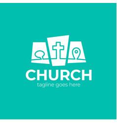 template christian logo emblem for school college vector image