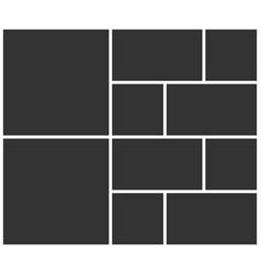 Templates collage ten frames photos vector