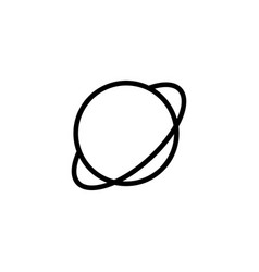 Thin line planet saturn jupiter icon vector
