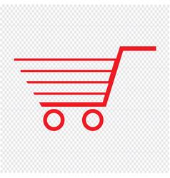 thin line shopping cart icon design vector image