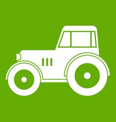 tractor icon green vector image