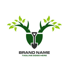 tree planting logo vector image