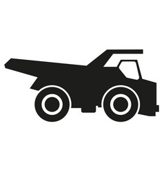 truck black silhouette icons black icon on vector image