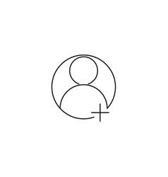 user follow icon vector image