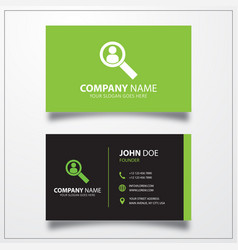 User search icon business card template vector