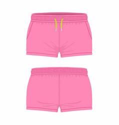 Womens pink sport shorts vector
