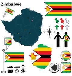zimbabwe map vector image