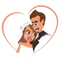 Newlyweds in love vector image vector image