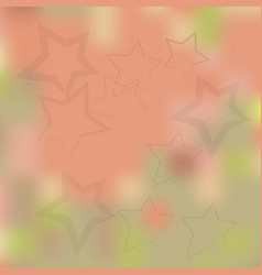 Stars on a beige background blurred vector