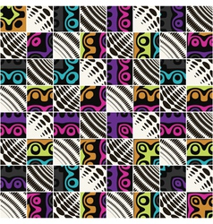 abstract checkered background vector image vector image