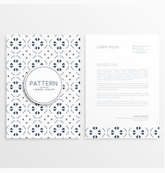 business leaflet design with abstract pattern vector image vector image