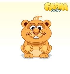 Cute Cartoon Hamster vector image vector image