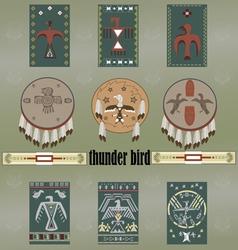 Native americans thunder bird vector