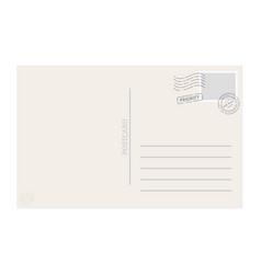 postcard template vector image