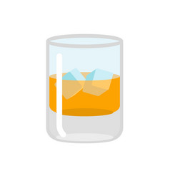 whiskey and ice glass of scotch on rocks drink on vector image vector image