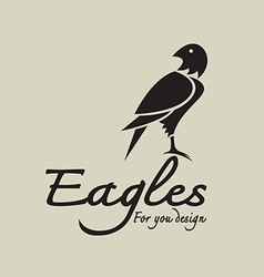 Eagles design vector image