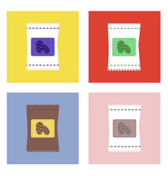 flat icon design collection potato seeds vector image vector image
