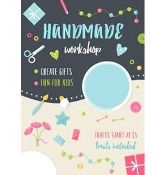 Handmade Tutorials and Workshops Banner Crafts vector image