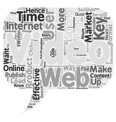 How To Effectively Market With Video On The Web vector image vector image