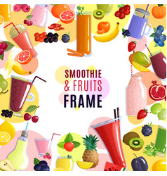 smoothie frame background vector image vector image