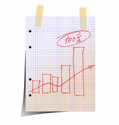 statistic graph vector image vector image