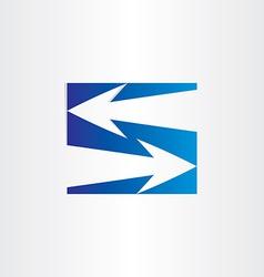 letter s arrows symbol number 5 vector image